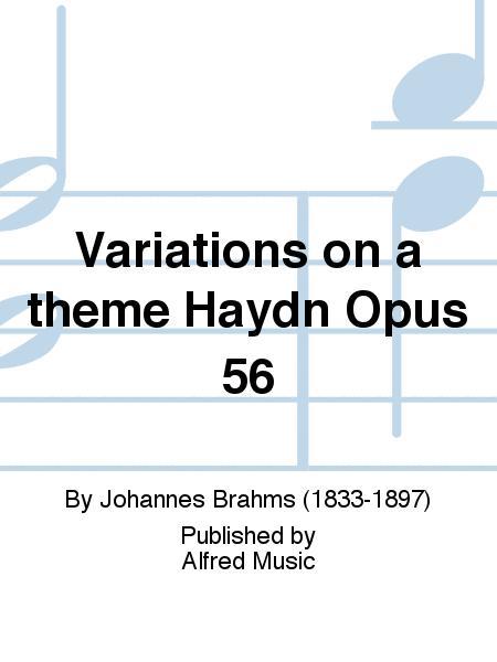 Variations on a theme Haydn Opus 56