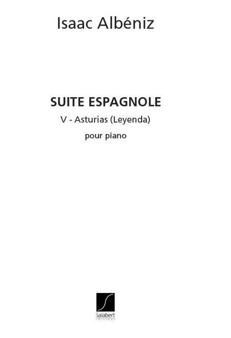 Suite Espagnole No. V - Asturias (Leyenda)