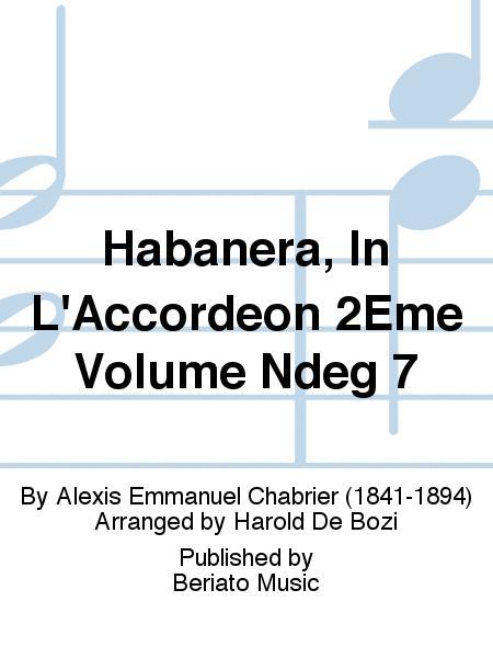 Habanera, In L'Accordeon 2Eme Volume Ndeg 7