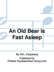 An Old Bear Is Fast Asleep