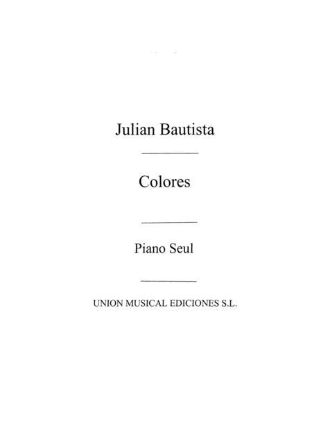 Colores, Seis Piezas For Piano