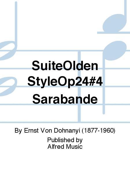 SuiteOlden StyleOp24#4 Sarabande
