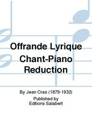 Offrande Lyrique Chant-Piano Reduction
