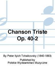 Chanson Triste Op. 40-2