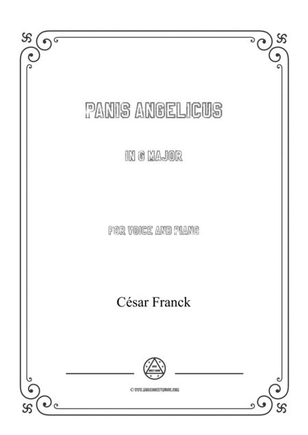 Franck-Panis angelicus in G Major,for voice and piano