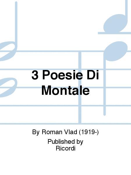 3 Poesie Di Montale