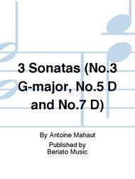 3 Sonatas (No.3 G-major, No.5 D and No.7 D)