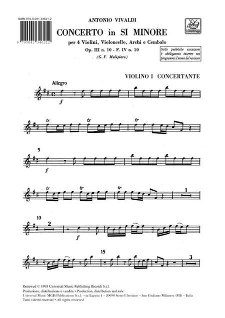 Concerto Per Vl. E Vc. Solisti, Archi E B.C.: