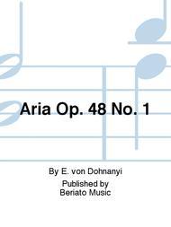 Aria Op. 48 No. 1