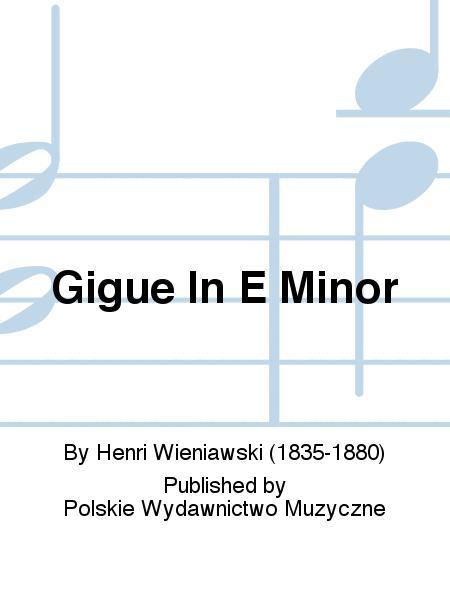 Gigue In E Minor