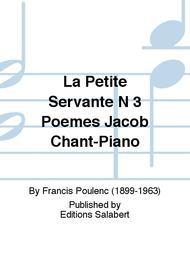 La Petite Servante N 3 Poemes Jacob Chant-Piano