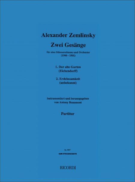 Zwei Gesange (1900-01)