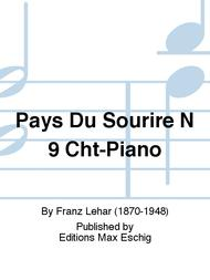 Pays Du Sourire N 9 Cht-Piano