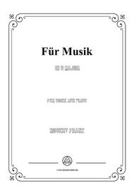 Franz-Für Musik in B Major,for voice and piano