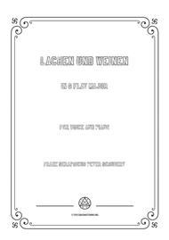 Schubert-Lachen und Weinen in G flat Major,for voice and piano
