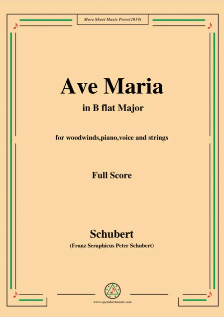 Schubert-Ave Maria in B flat Major,for woodwinds,piano,voice and strings