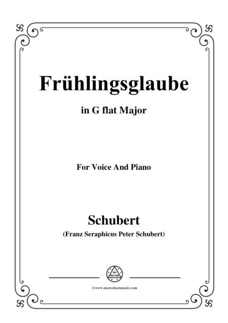 Schubert-Frühlingsglaube in G flat Major,for voice and piano