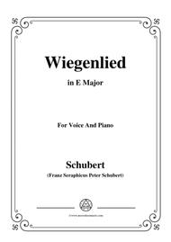 Schubert-Wiegenlied in E Major,for voice and piano