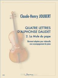 4 lettres d'Alphonse Daudet 2. La Mule du pape