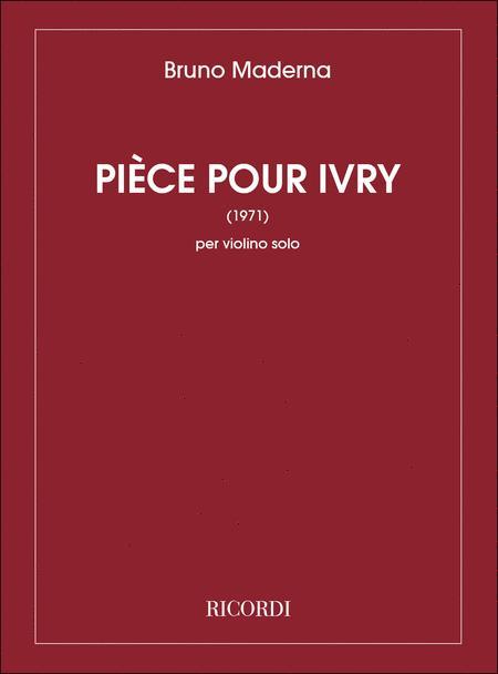Piece Pour Ivry (1971)