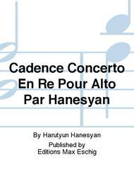 Cadence Concerto En Re Pour Alto Par Hanesyan