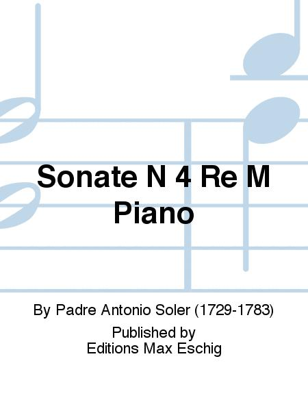 Sonate N 4 Re M Piano