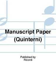 Manuscript Paper (Quinterni)