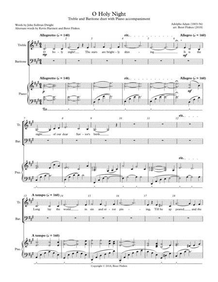 O Holy Night (Vocal Duet, Piano)