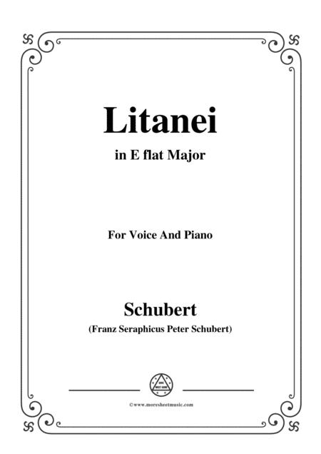 Schubert-Litanei in E flat Major,for voice and piano