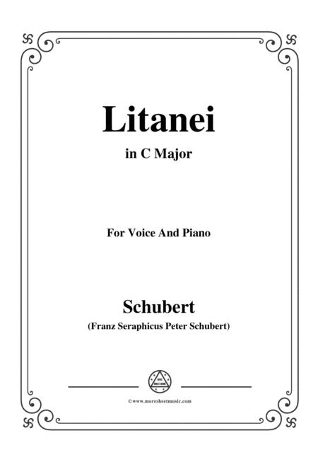 Schubert-Litanei in C Major,for voice and piano