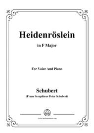 Schubert-Heidenröslein in F Major,for voice and piano