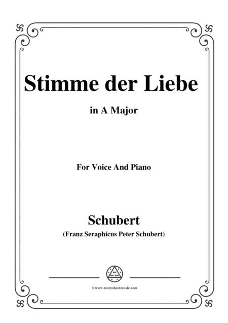 Schubert-Stimme der Liebe,D.418,in A Major,for voice and piano