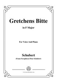 Schubert-Gretchens Bitte in F Major,for voice and piano