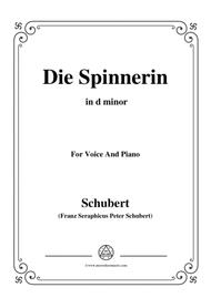 Schubert-Die Spinnerin,in d minor,for voice and piano