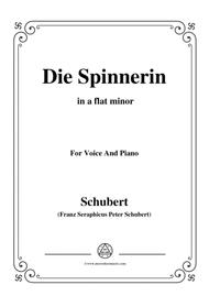 Schubert-Die Spinnerin,in a flat minor,for voice and piano