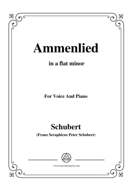 Schubert-Ammenlied in a flat minor,for voice and piano