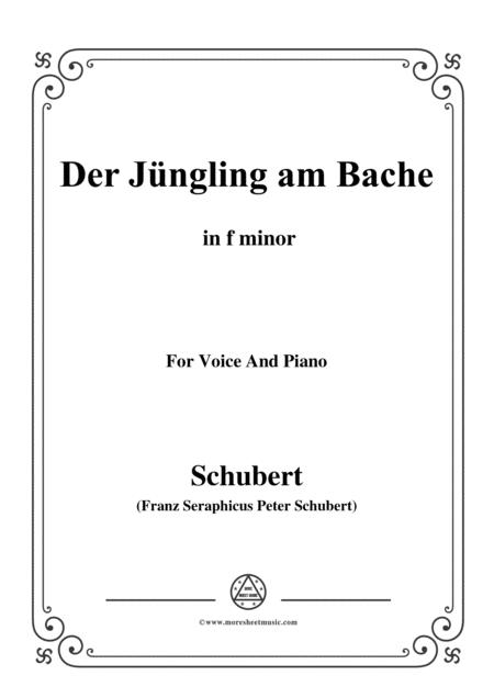Schubert-Der Jüngling am Bache,D.192,in f minor,for voice and piano