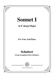 Schubert-Sonnet I in F sharp Major,for voice and piano