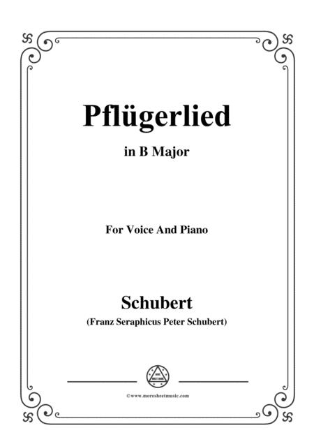 Schubert-Pflügerlied in B Major,for voice and piano