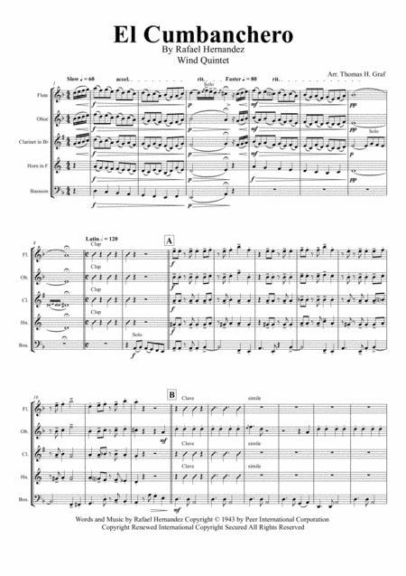 El Cumbanchero - Samba - Wind Quintet