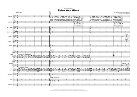 Raise Your Glass - Vocal with Small Band (3-5 horns) - Key of G