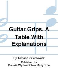 Guitar Grips, A Table With Explanations