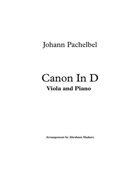 Pachelbel`s Canon In D Viola and Piano