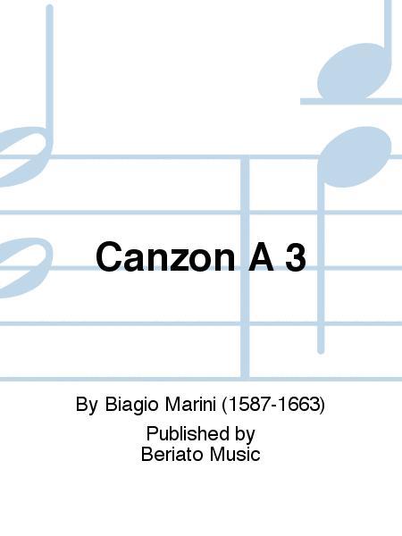 Canzon A 3