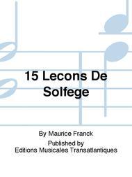 15 Lecons De Solfege