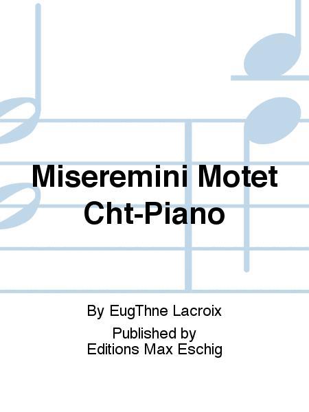Miseremini Motet Cht-Piano