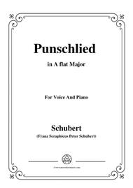 Schubert-Punschlied (duet) in A flat Major,for voice and piano