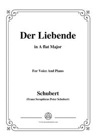 Schubert-Der Liebende,D.207,in A flat Major,for Voice and Piano