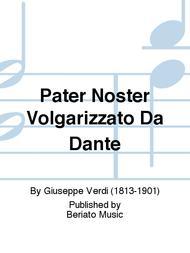 Pater Noster Volgarizzato Da Dante