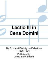 Lectio III in Cena Domini